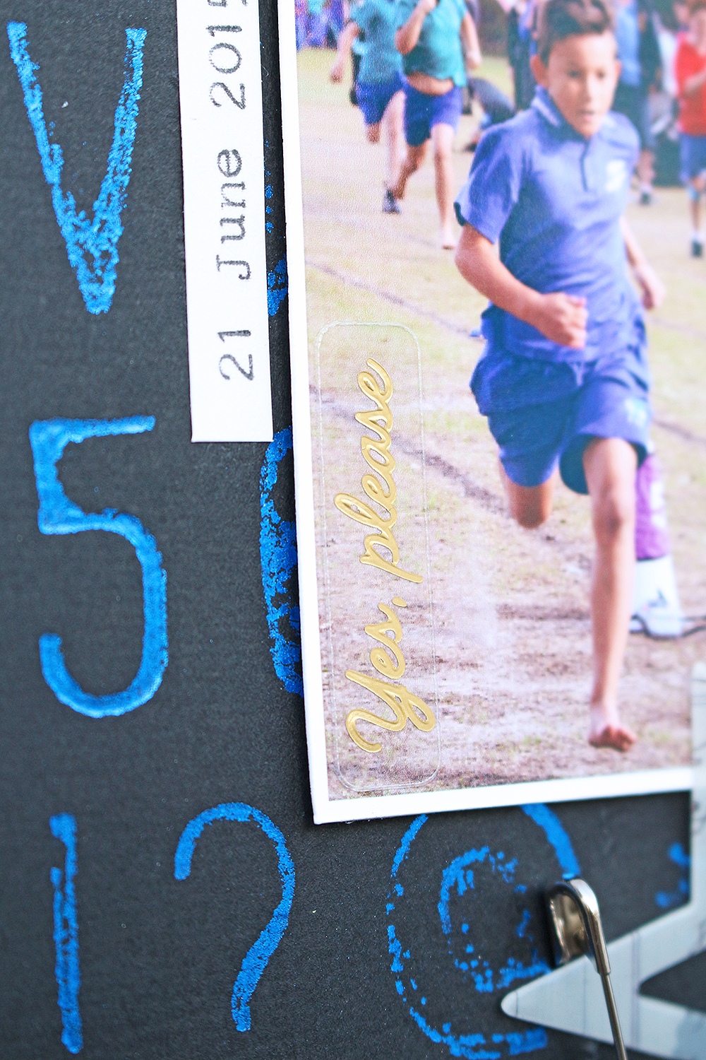 School Sports Layout by Chantalle McDaniels for We R Memory Keepers
