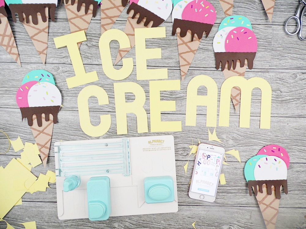 Ice Cream Banner by Soraya Maes for We R Memory Keepers