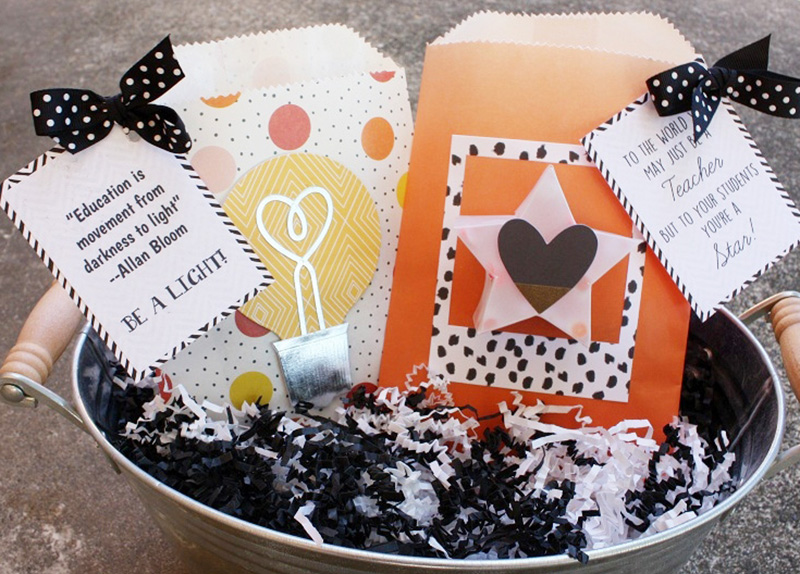 Teacher Goodie Bags featuring the We R Memory Keepers Goodie Bag Guide and Oh Goodie Collection