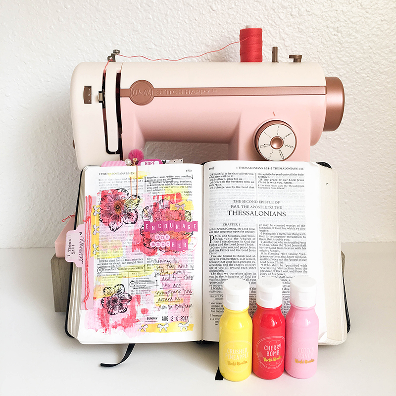Bible Journaling with the Tab Punch Board and Stitch Happy by Tessa Buys for We R Memory Keepers