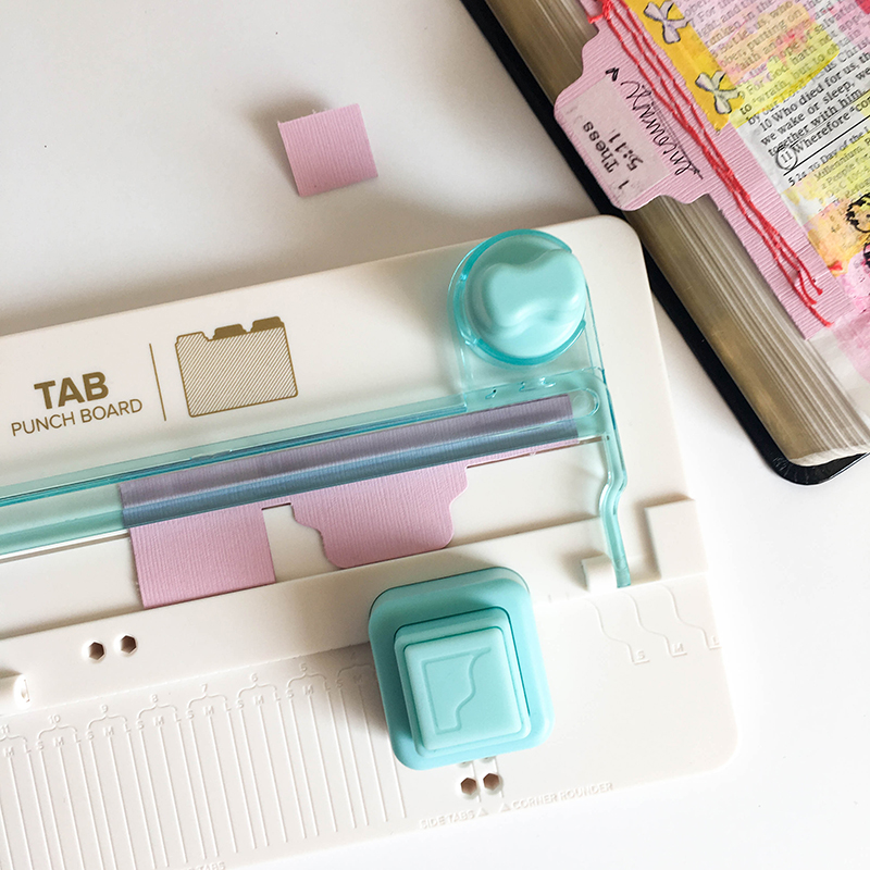 Bible Journaling with the Tab Punch Board and Stitch Happy by Tessa Buys for We R Memory Keeper