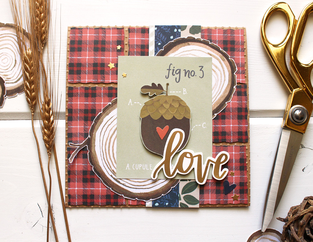 Fall Card featuring the Dial Trimmer by Kimberly Crawford for We R Memory Keepers