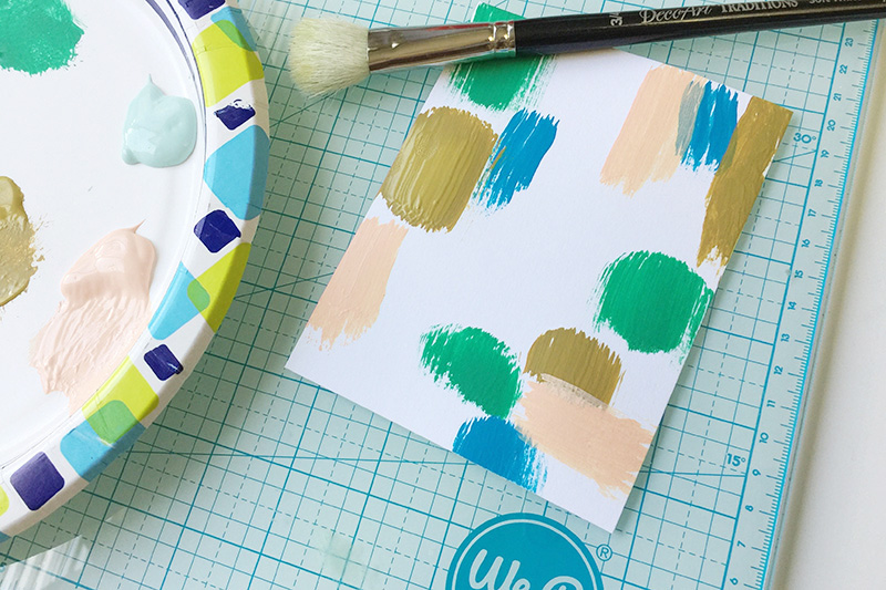 Vicki Boutin paints on letterpress paper