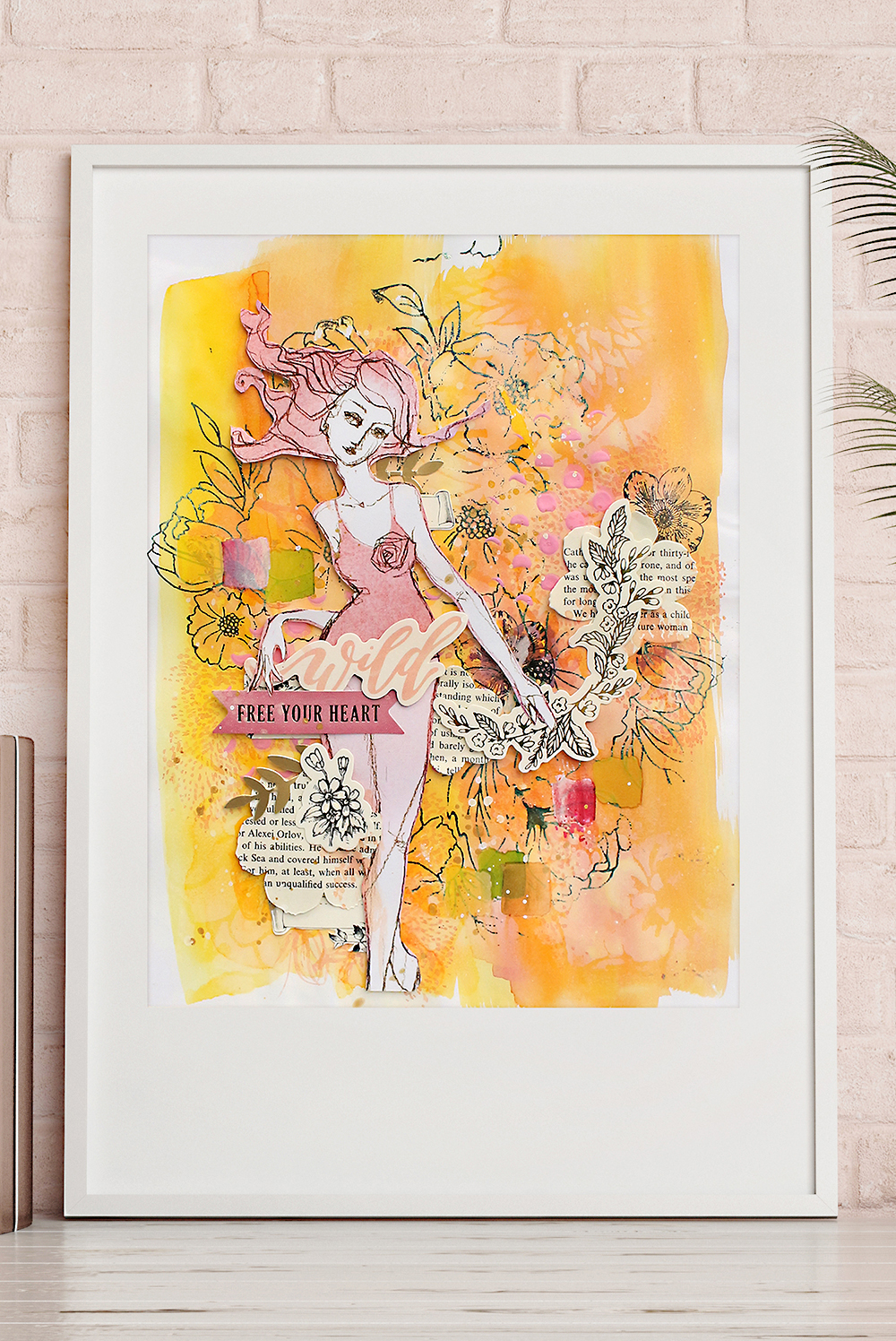 Mixed Media Framed Art by Chantalle McDaniel for We R Memory Keepers