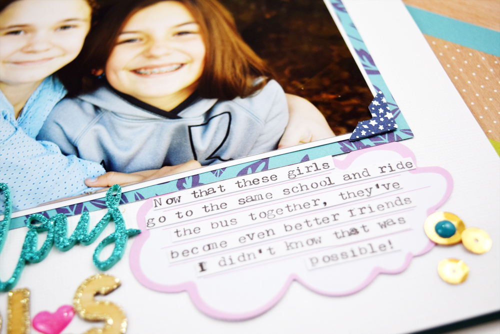 Scrapbook Page featuring Clear Cut Punches by Becki Adams for We R Memory Keepers