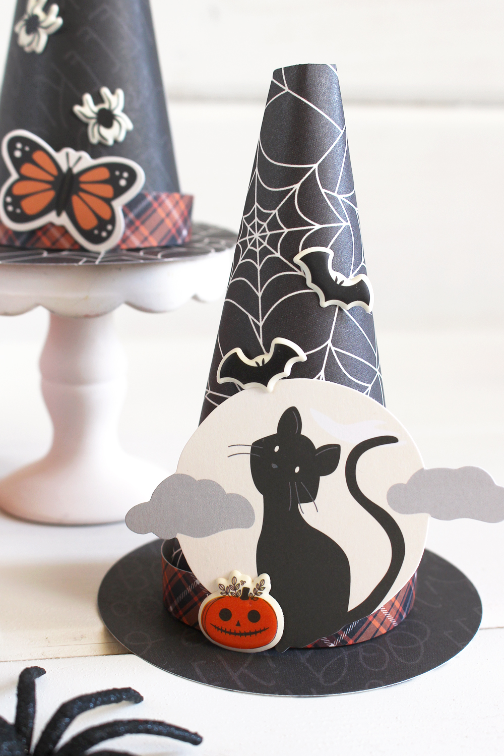 DIY Party Board Witch Hats for Halloween by Kimberly Crawford for We R Memory Keepers