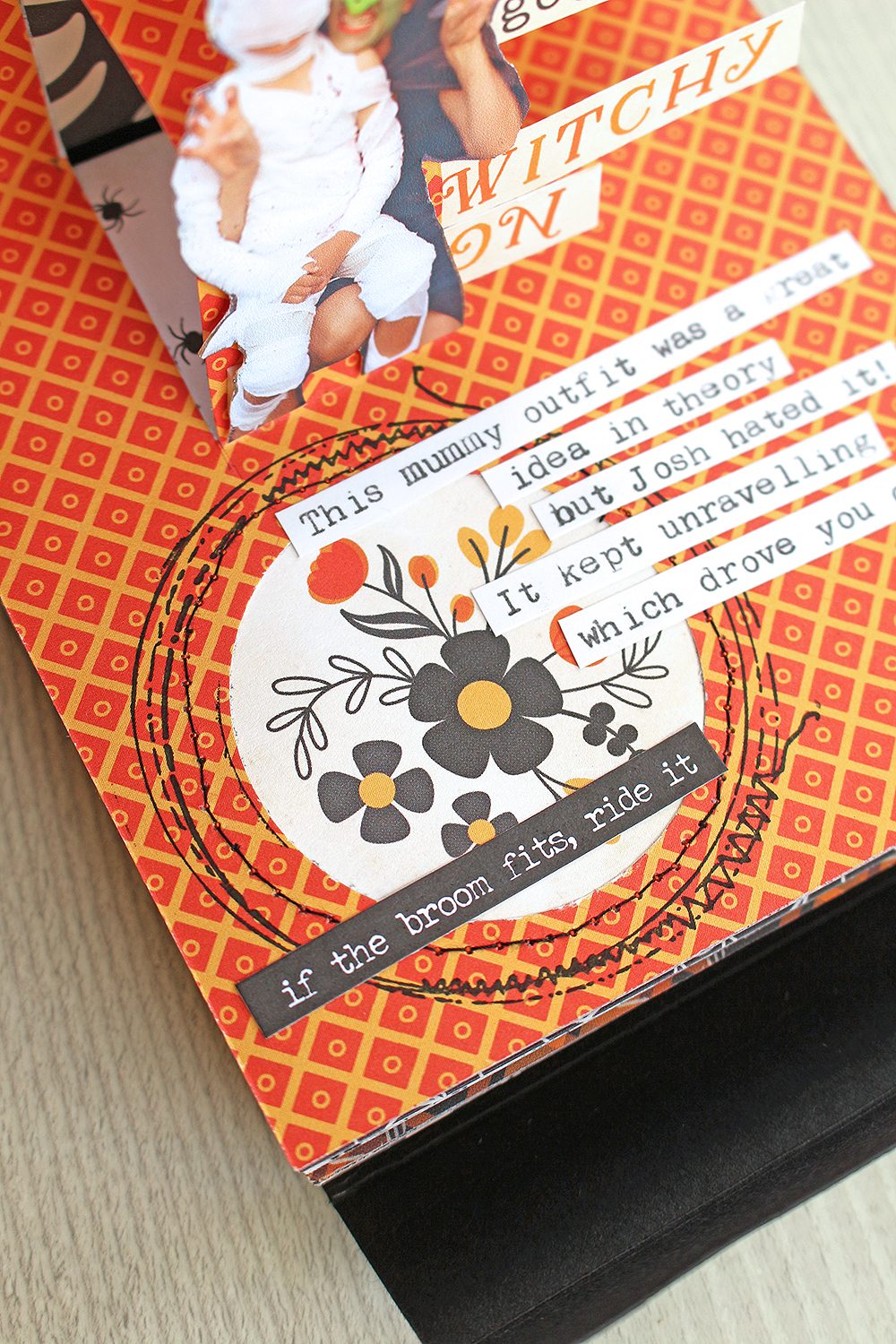 Halloween Mini Album with the Clear Cut Punches by Chantalle McDaniel for We R Memory Keepers