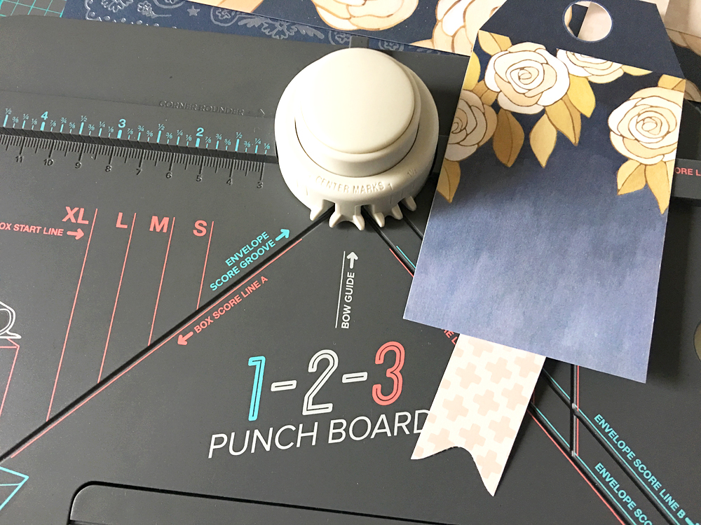 123 Punch Board Card by Kimberly Crawford for We R Memory Keepers