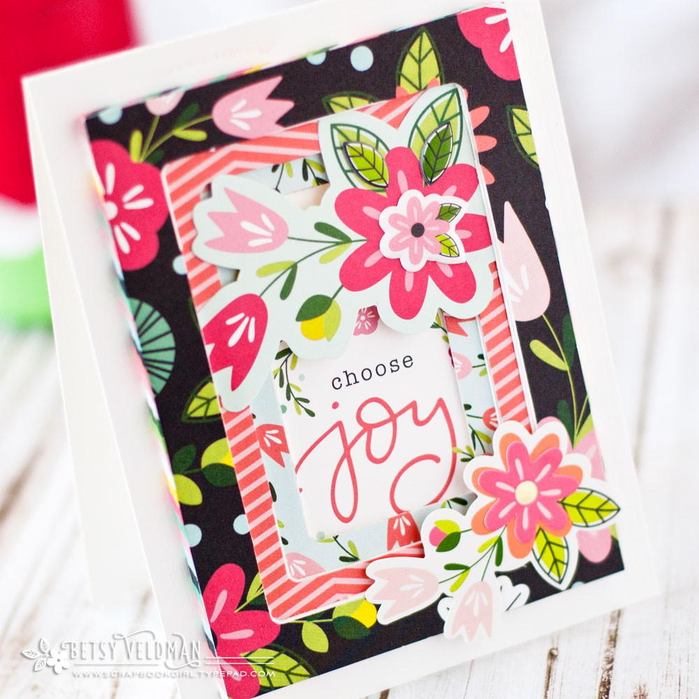 Frame Punch Board card by Betsy Veldman for We R Memory Keepers
