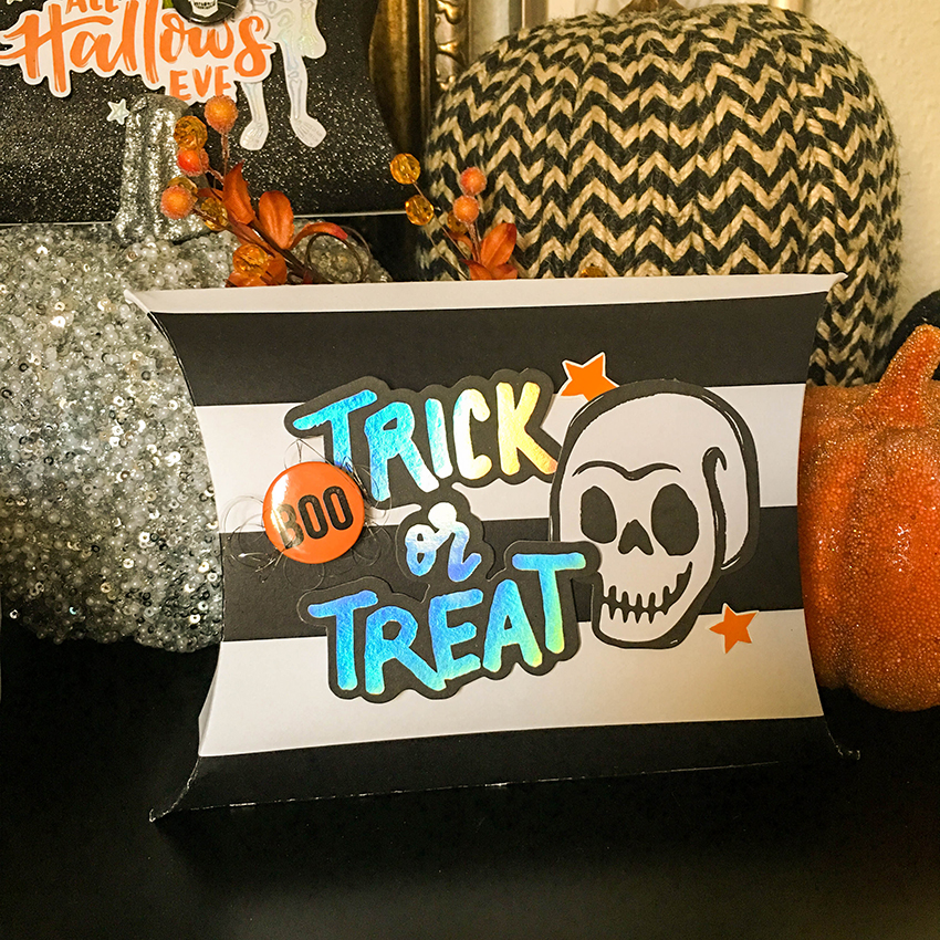 Template Studio Halloween Pillow Boxes Tessa Buys for We R Memory Keepers