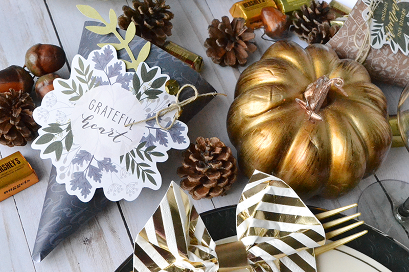 Thanksgiving Cornucopia Centerpiece featuring the DIY Party Board by Aly Dosdall for We R Memory Keepers