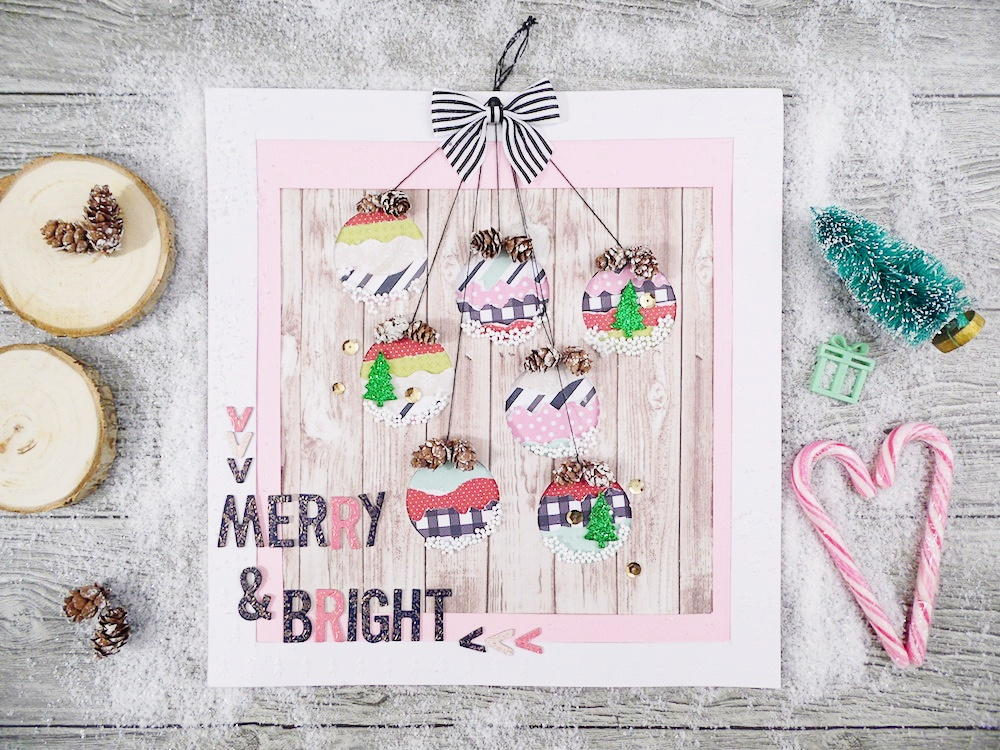 Holiday Gift Frame by Soraya Maes for We R Memory Keepers