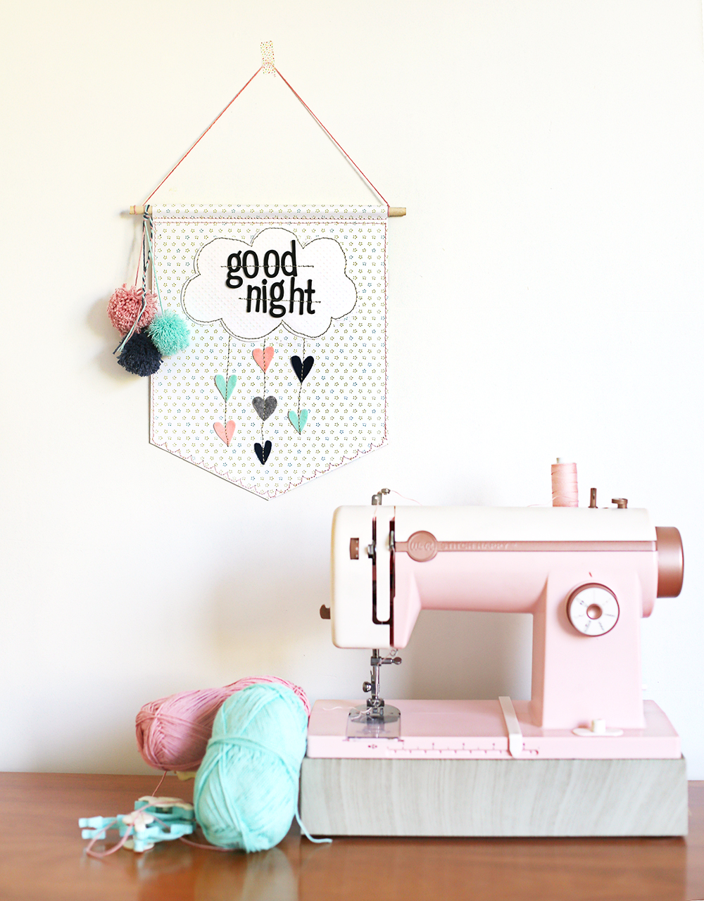 Wall Hanging with the Stitch Happy sewing machine by Eva Pizarro for We R Memory Keepers