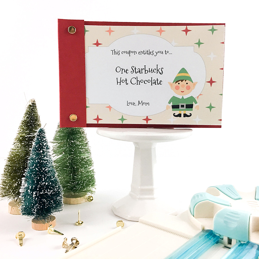Dial Trimmer Holiday Coupon Book by Tessa Buys for We R Memory Keepers