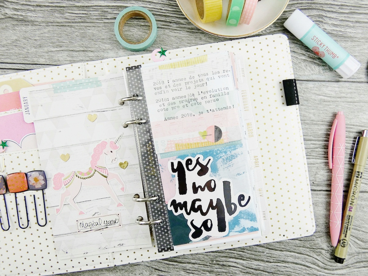 Planner Spread featuring the Square Punch Board by Soraya Maes for We R Memory Keepers