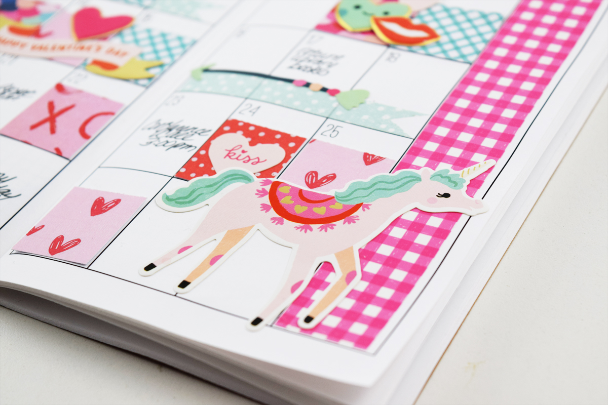 Planner Spread featuring the Square Punch Board by Becki Adams for We R Memory Keepers