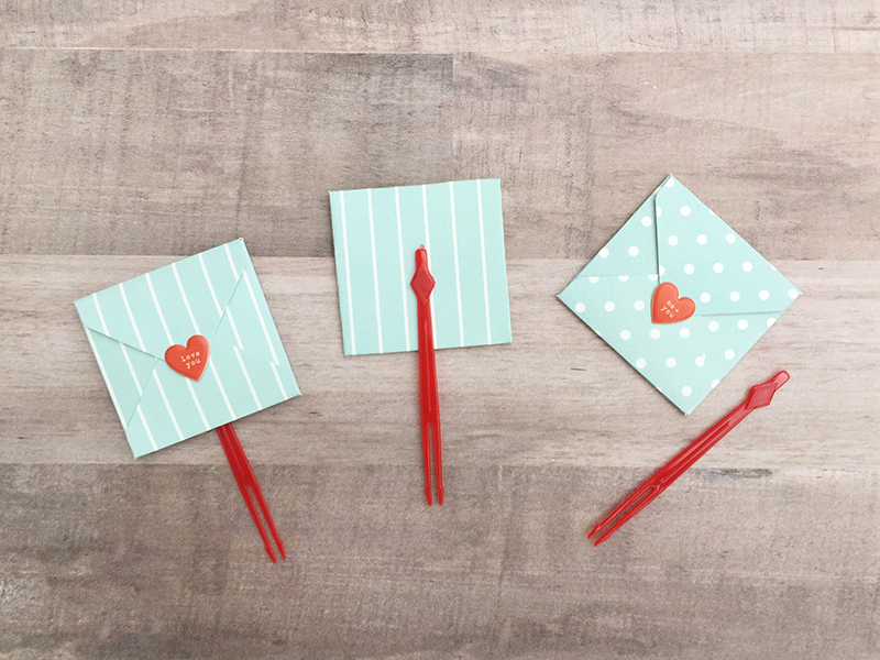 Love Note Cupcake Toppers with the Mini Envelope Punch Board by Aly Dosdall for We R Memory Keepers