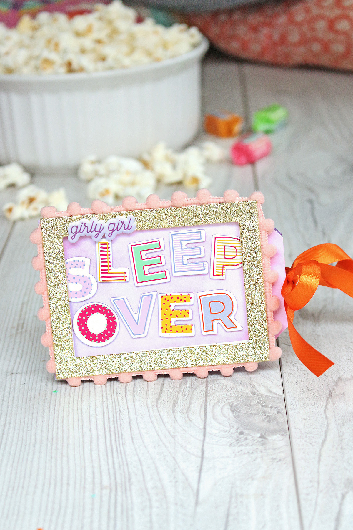 Slumber Party Invitation by Chantalle McDaniel for We R Memory Keepers