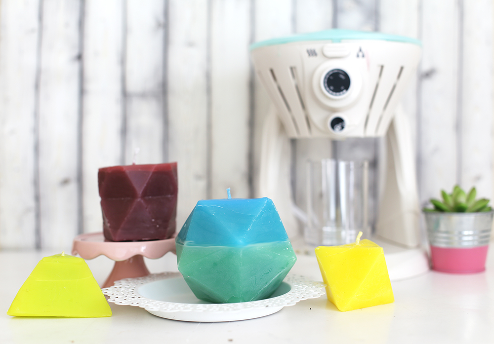 Geometric Candles with the Wick Candle Maker by Eva PIzarro for We R Memory Keepers
