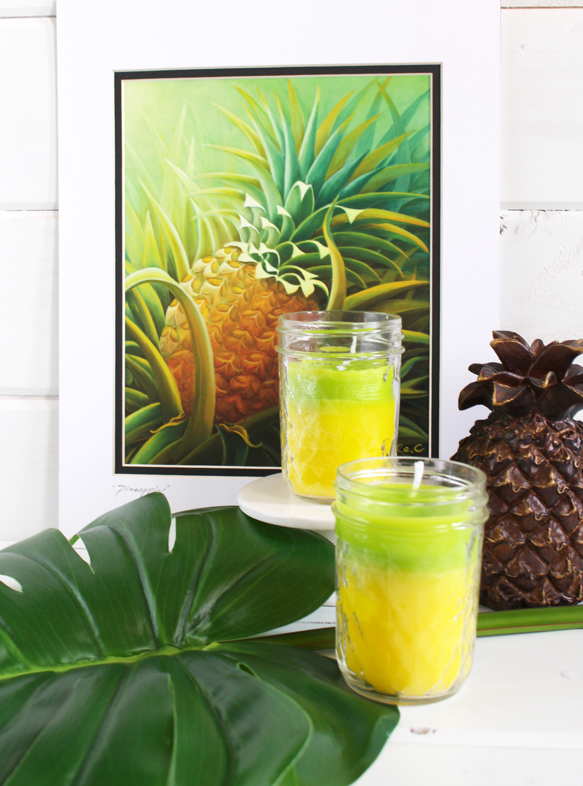 Pineapple Candles by Kimberly Crawford for We R Memory Keepers
