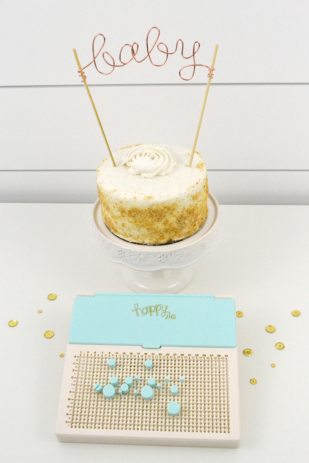 Baby Shower Decor by Aly Dosdall for We R Memory Keepers featuring the Happy Jig