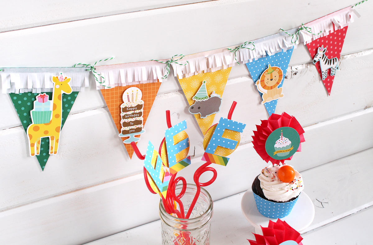 DIY Birthday Party Decor by Kimberly Crawford for We R Memory Keepers