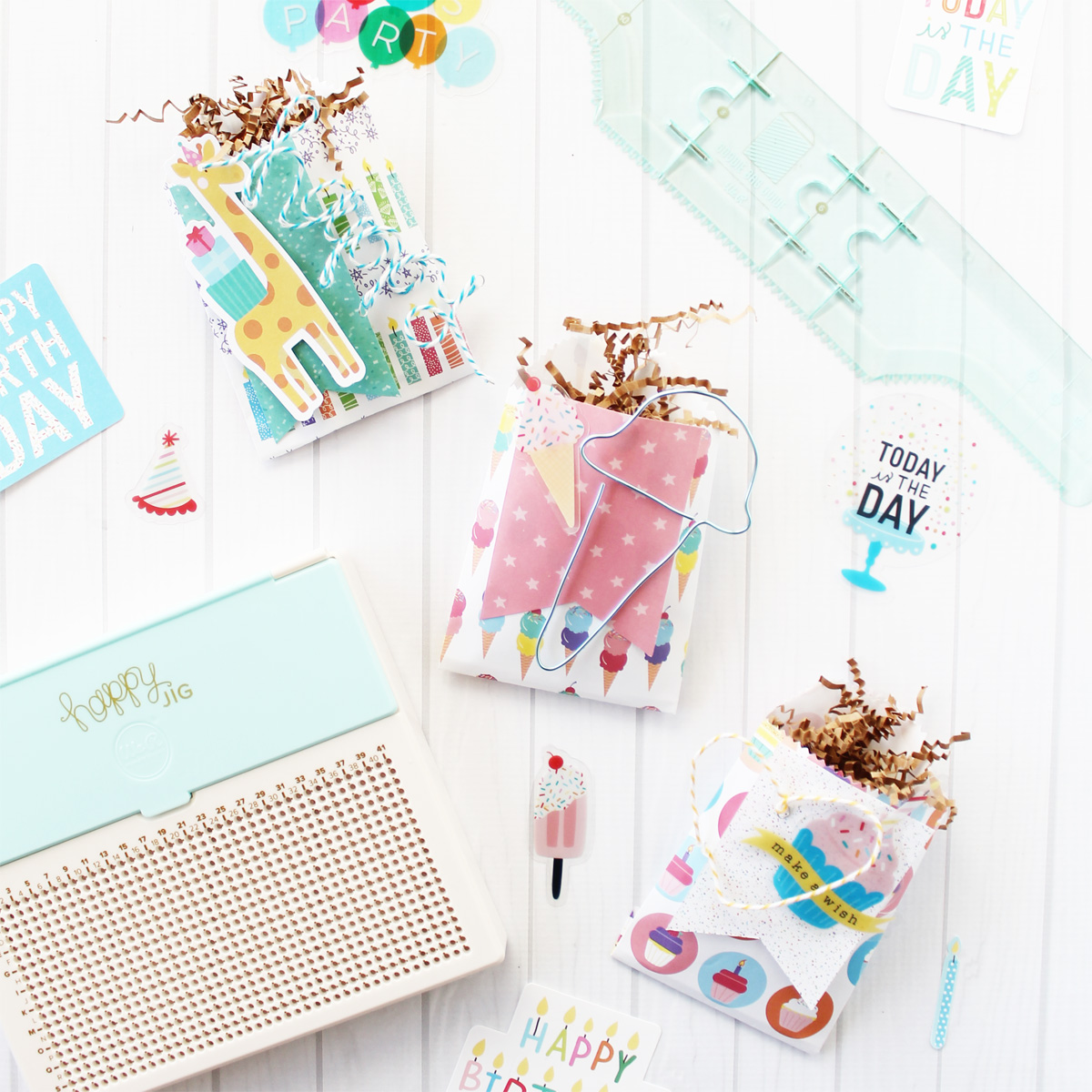 Birthday Treat Bags by Laura Silva for We R Memory Keepers