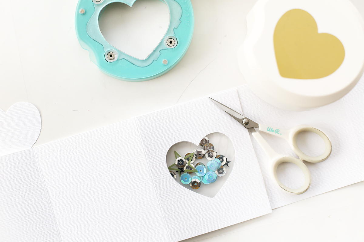 Clear Cut Punch Shaker Pocket by Eva Pizarro for We R Memory Keepers