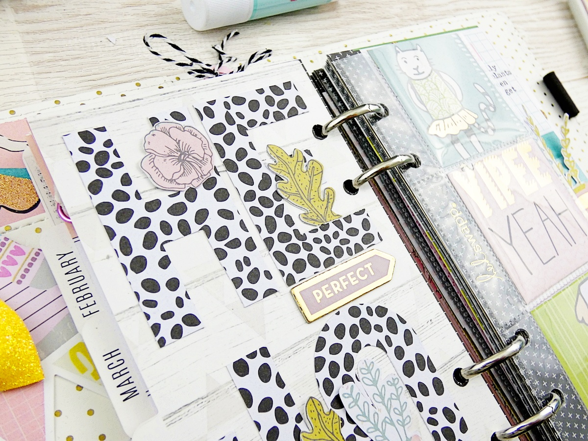 Planner Spread with the Typecast Typewriter by Soraya Maes for We R Memory Keepers