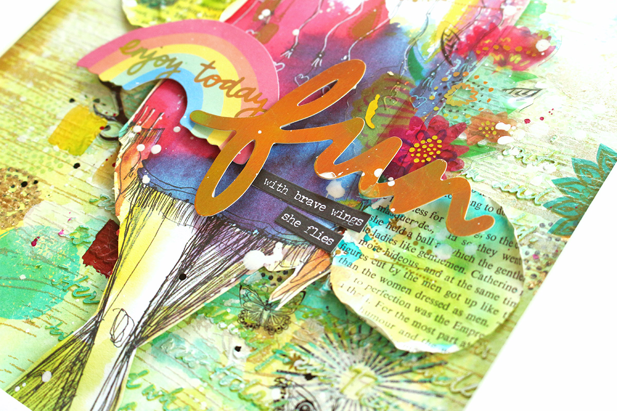Handmade Gifts with the Precision Press Advanced by Chantalle McDaniel for We R Memory Keepers featuring Vicki Boutin stamps and rubons