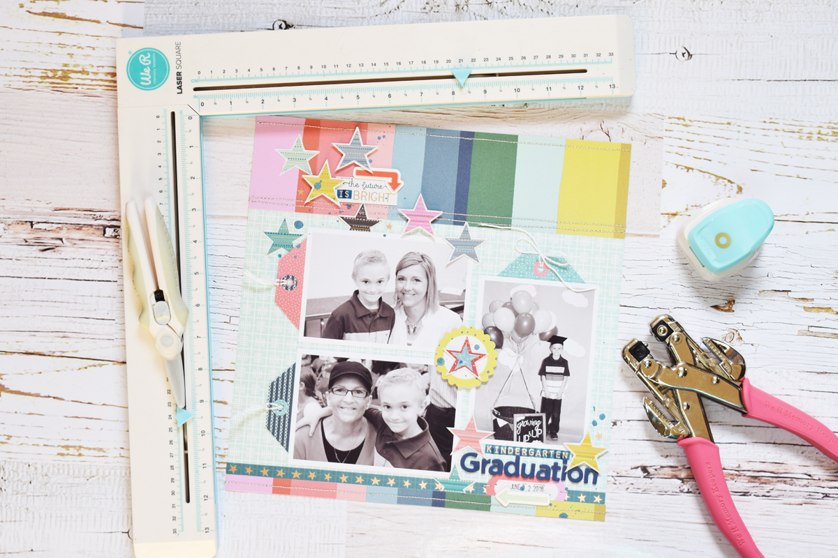 Graduation Scrapbook Page by Becki Adams for We R Memory Keepers