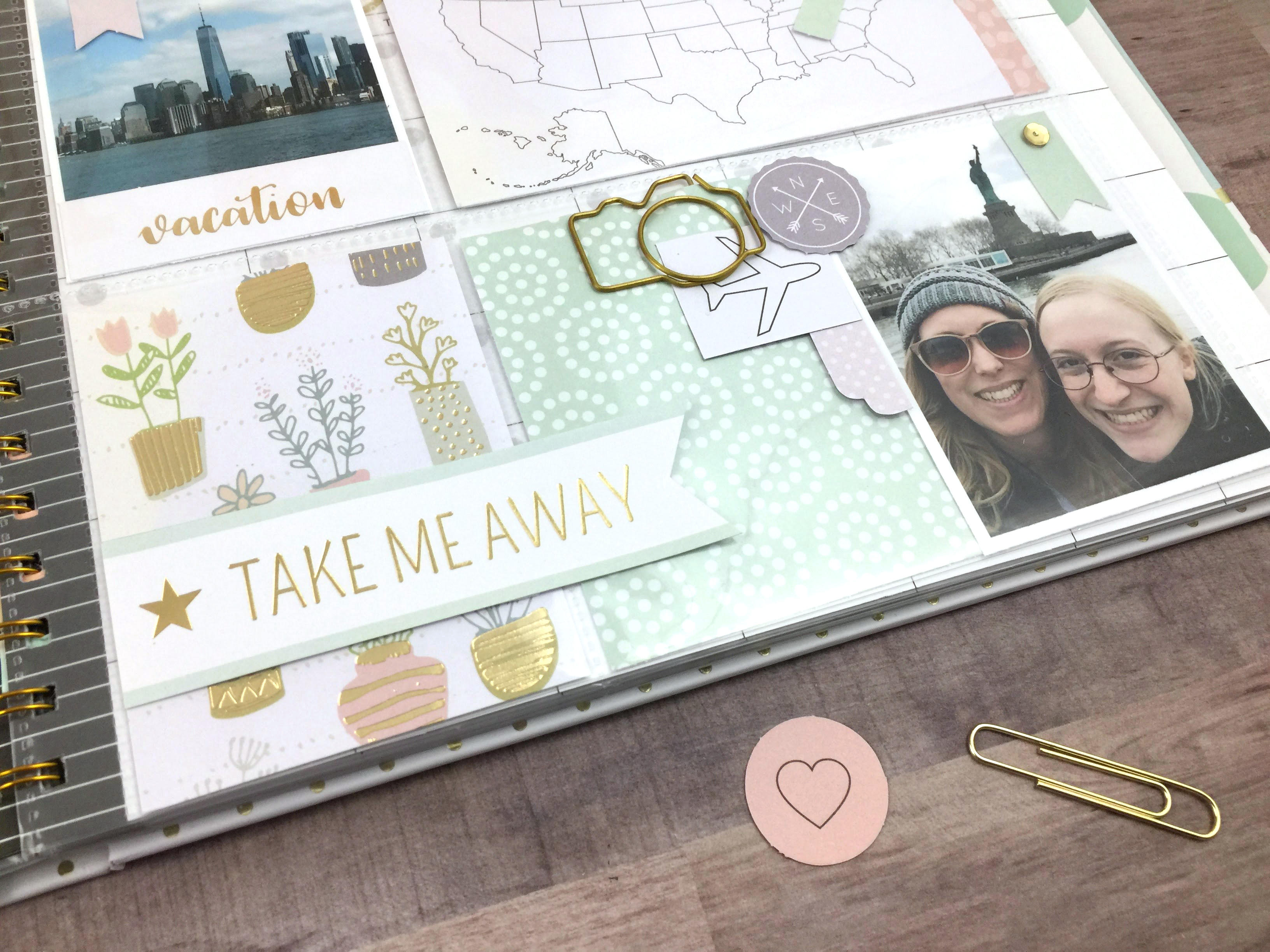 Memory Planner Scrapbook Page by Aly Dosdall for We R Memory Keepers