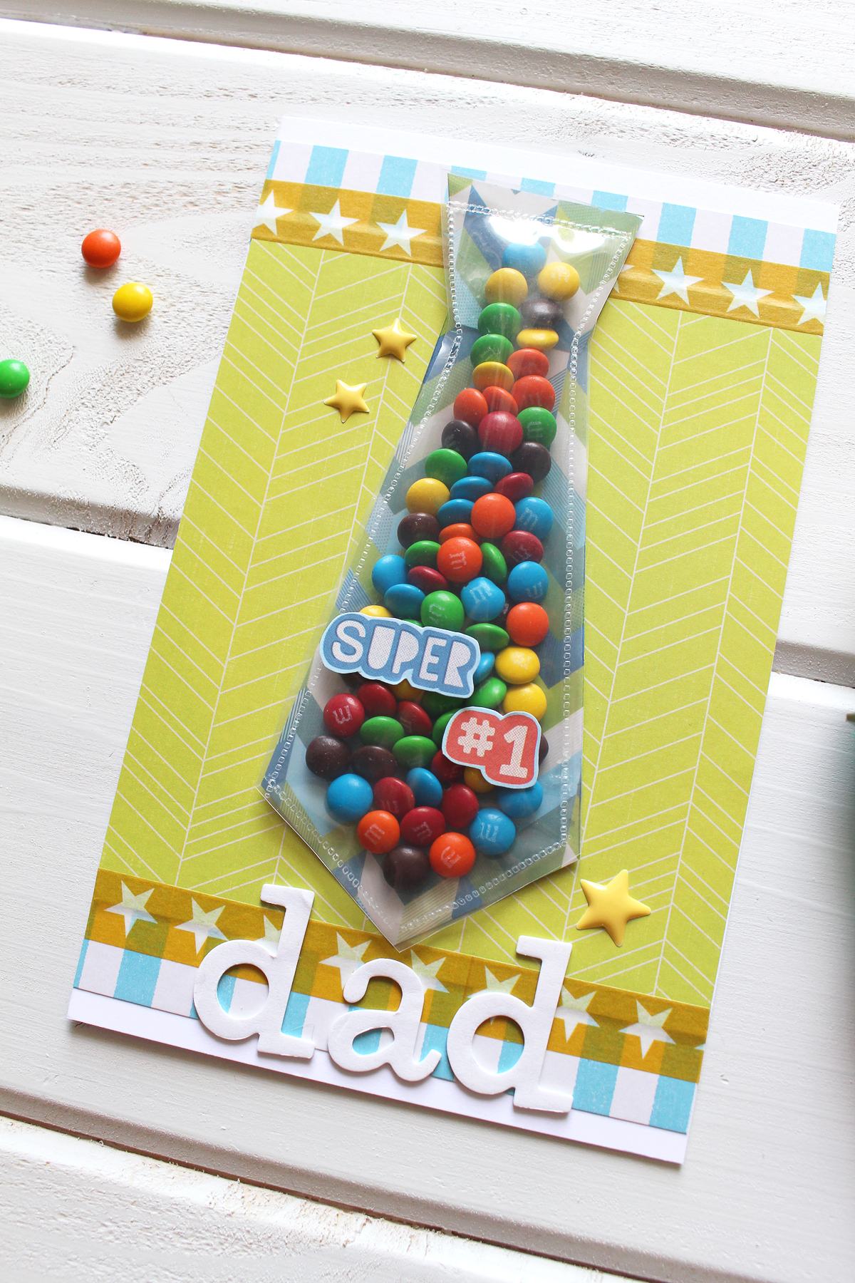 Father's Day Candy Tie Card by Kimberly Crawford for We R Memory Keepers