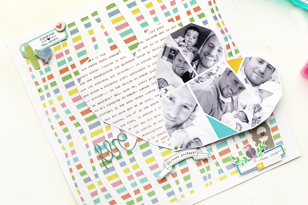 Father's Day Scrapbook Page by Eva Pizarro for We R Memory Keepers