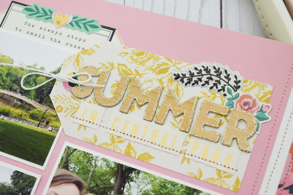 Summer Scrapbook Page by Becki Adams for We R Memory Keepers