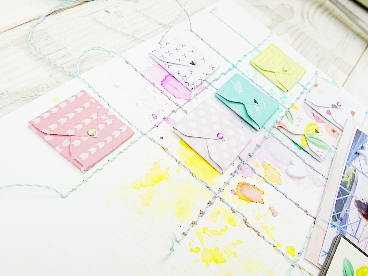 Mini Envelope Punch Board Layout by Soraya Maes for We R Memory Keepers