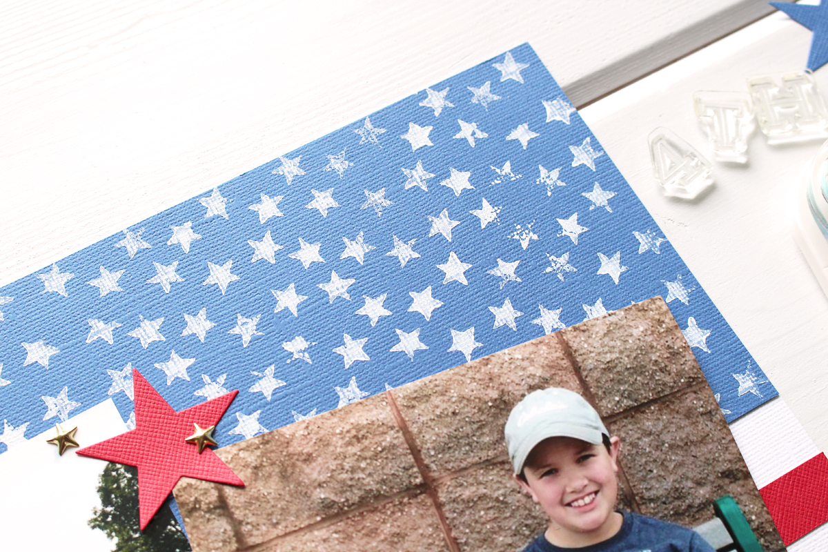 Patriotic Scrapbook Page with the Precision Press Advanced by Kimberly Crawford