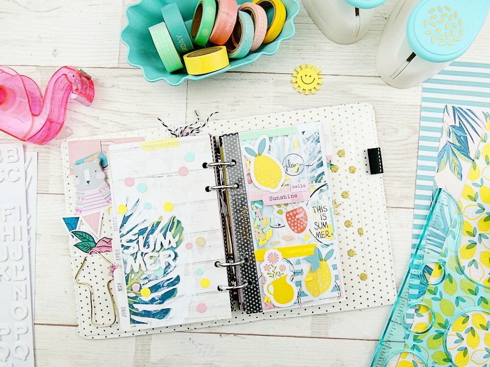 How to Create a Summer Planner Spread by Soraya Maes for We R Memory Keepers