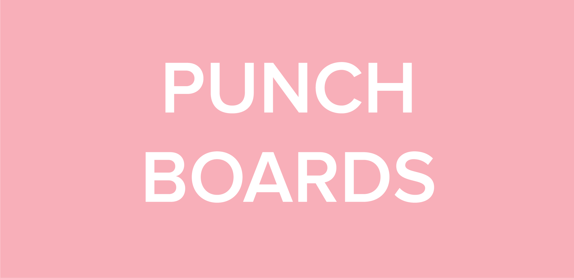 Punch Boards