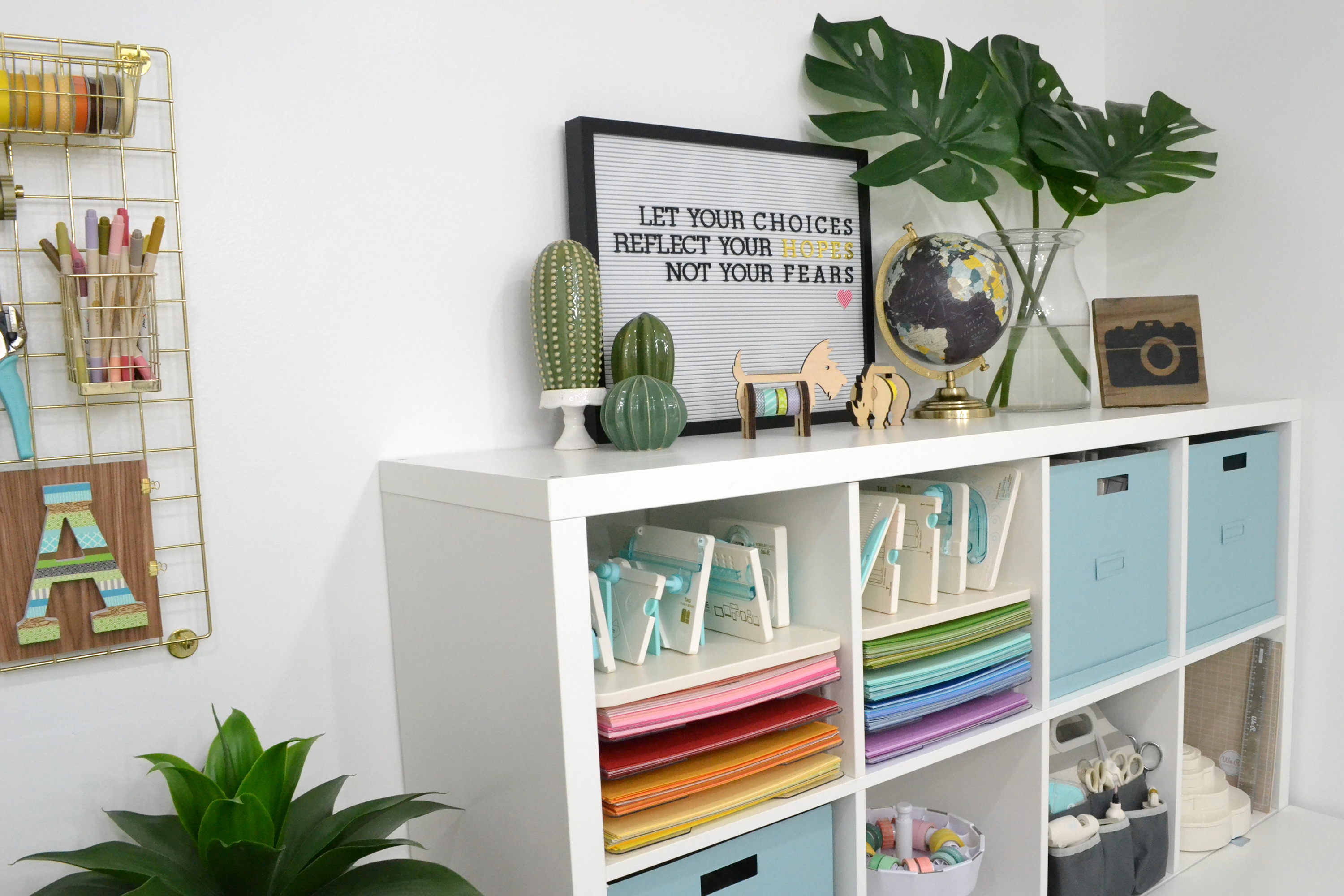 Craft Room Storage Tips by Aly Dosdall for We R Memory Keepers