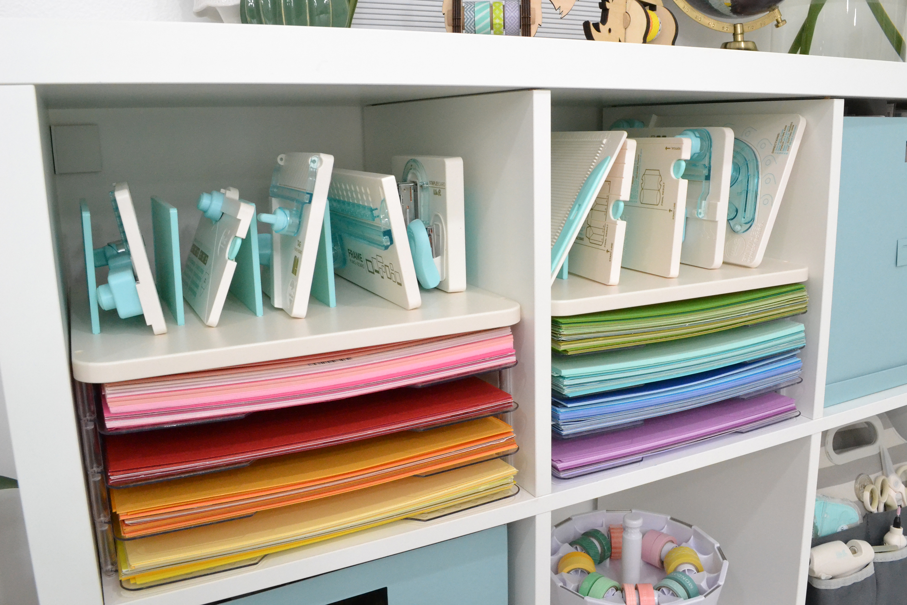 We R Memory Keepers Punch Board Storage featured in Aly Dosdall's craft room