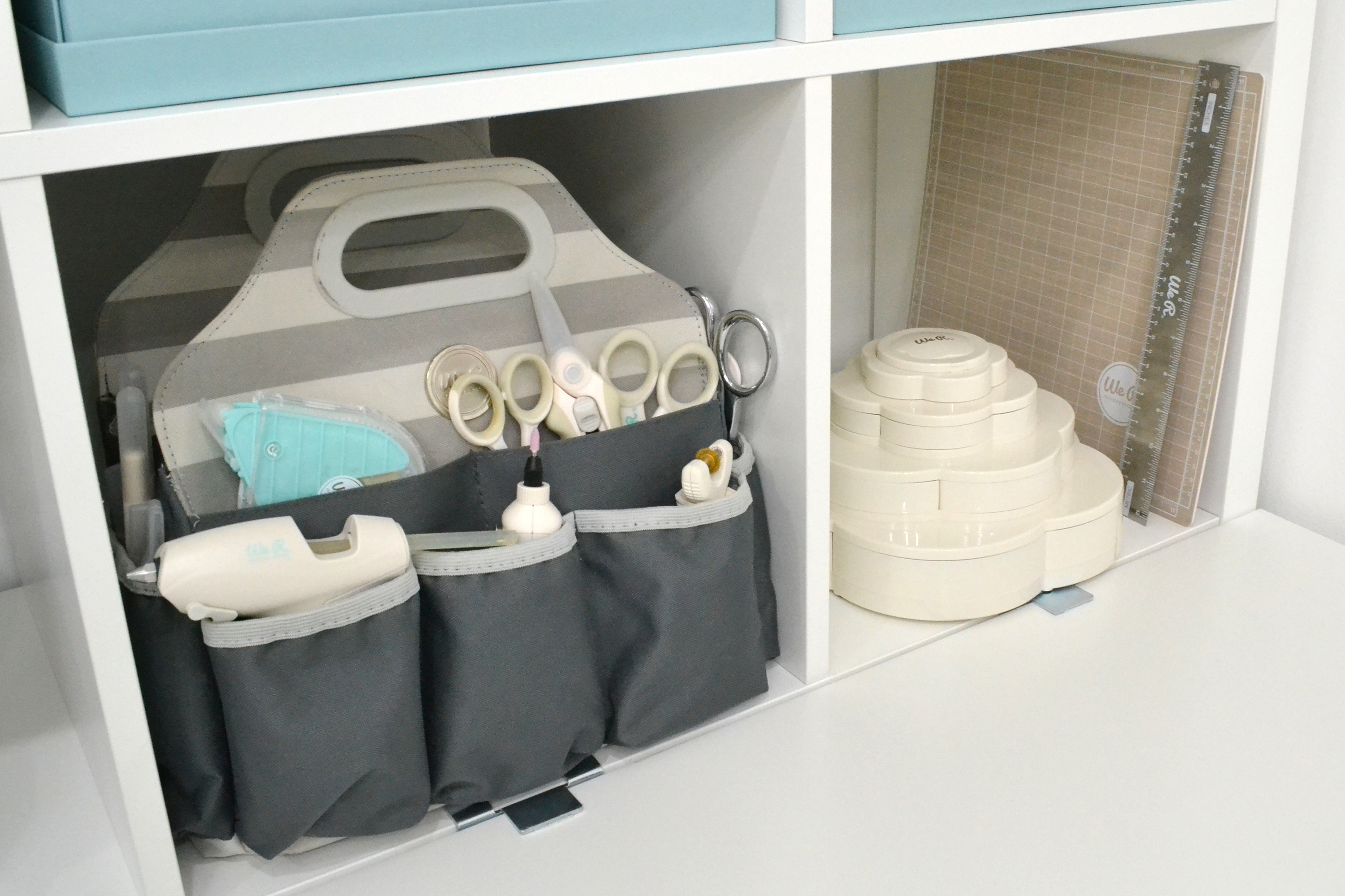 Crafter's Tote Bag and Bloom Storage by We R Memory Keepers featured in Aly Dosdall's craft room