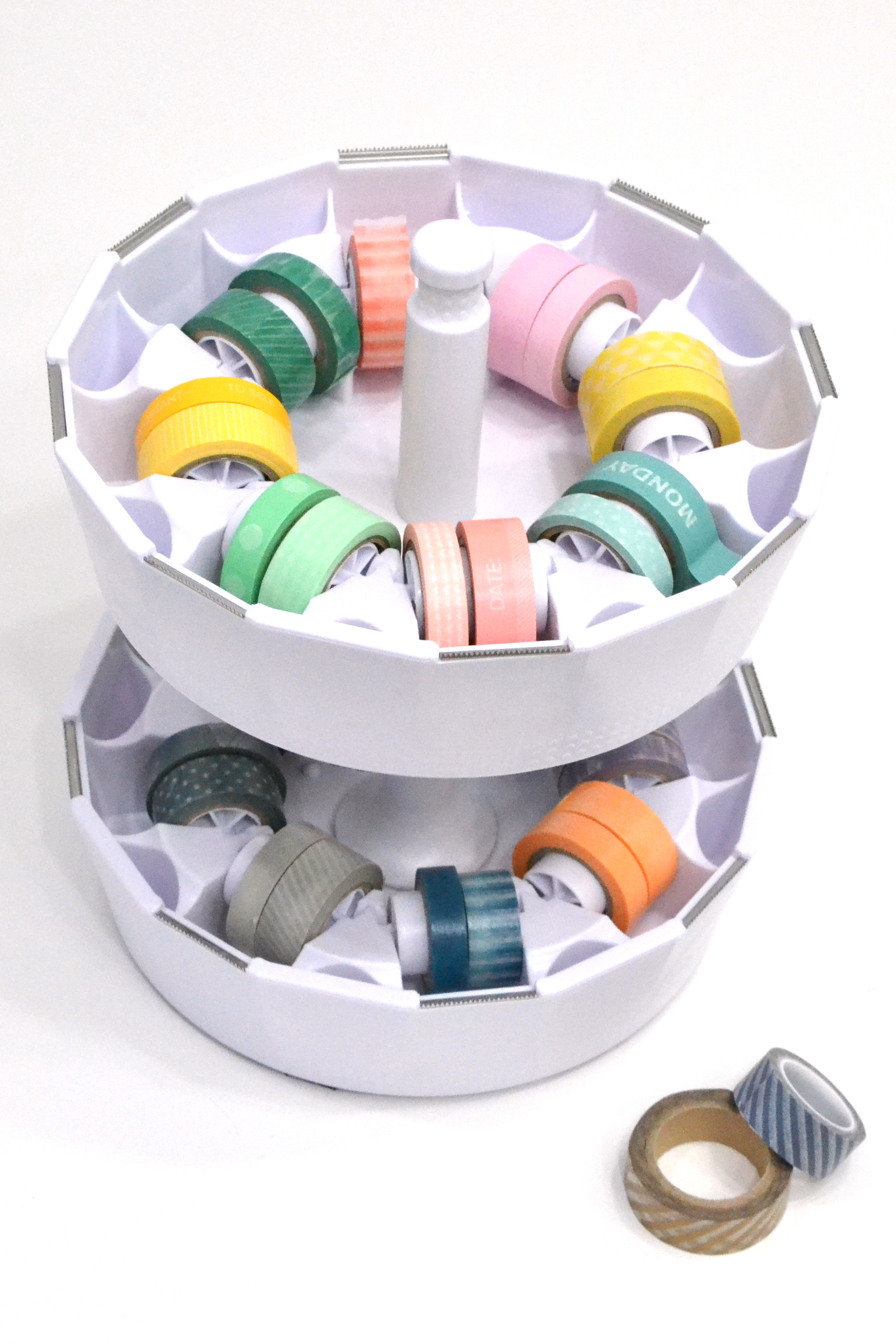We R Memory Keepers Washi Tape Dispenser featured in Aly Dosdall's craft room