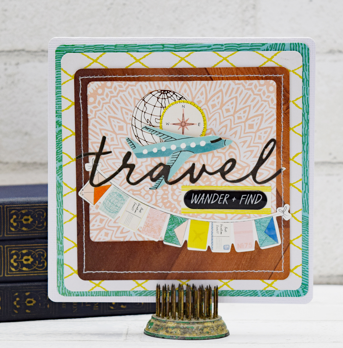 Frame Punch Board Travel Card by Becki Adams for We R Memory Keepers