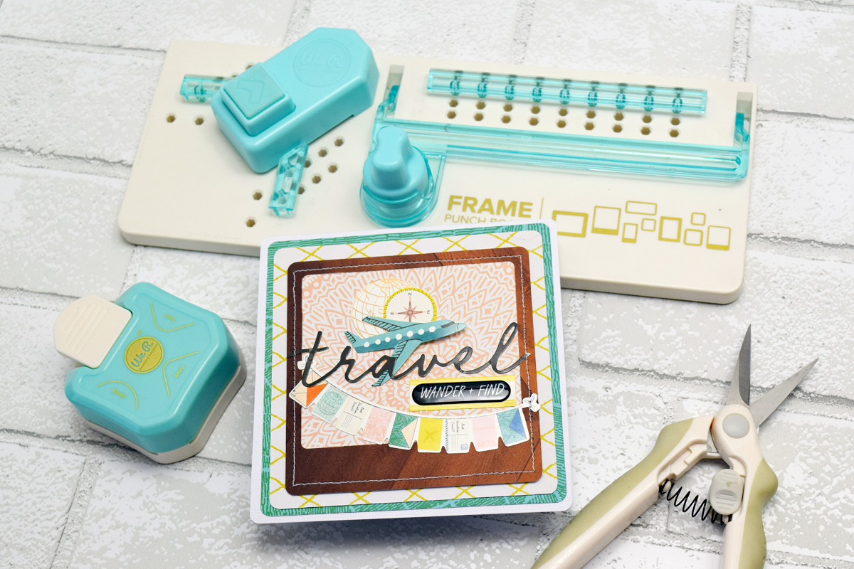 Frame Punch Board Travel Card by Becki Adams by We R Memory Keepers