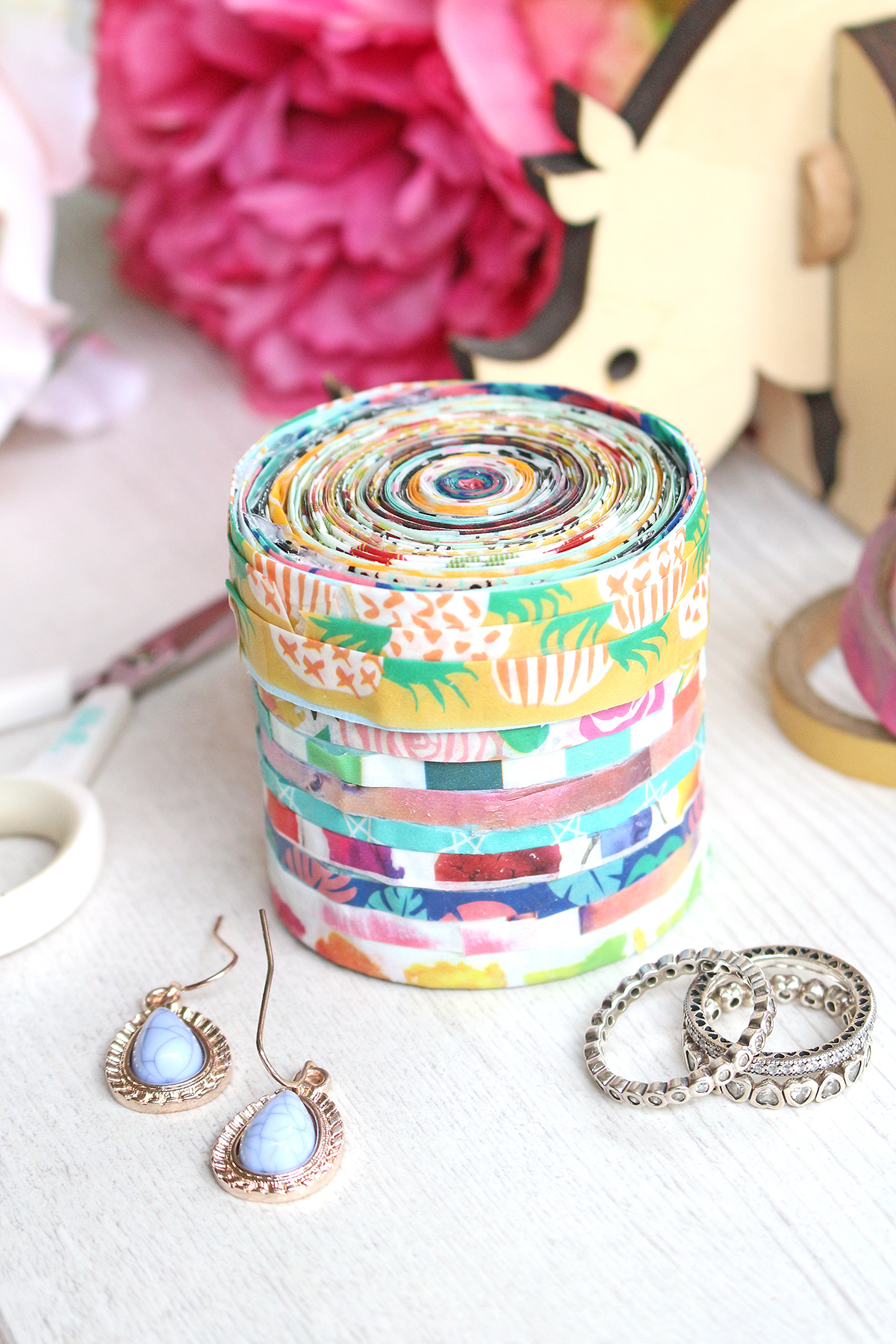 DIY Washi Tape Jewelry Box by Chantalle McDaniel for We R Memory Keepers