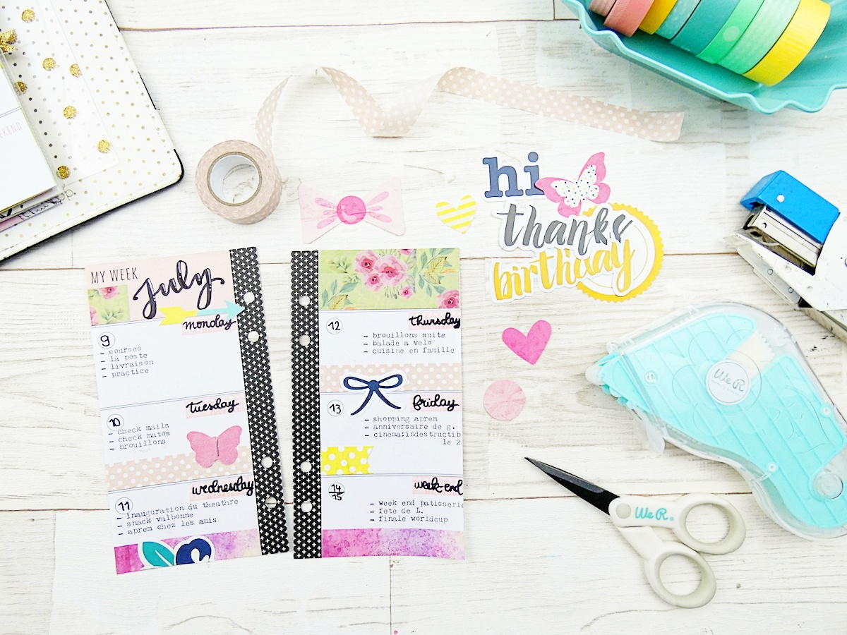 Using Washi Tape in Your Planner by Soraya Maes for We R Memory Keepers