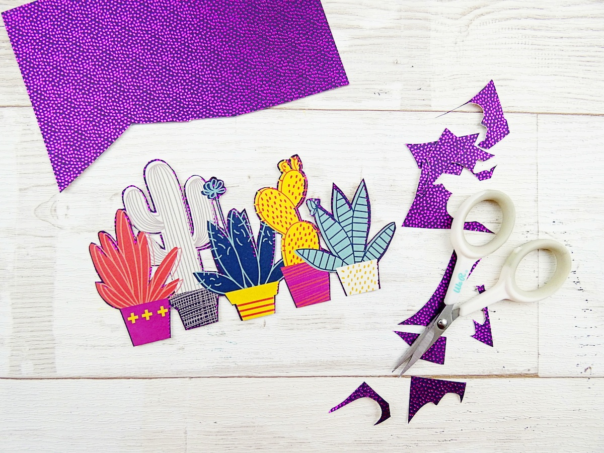 Detail Scissors by We R Memory Keepers + DCWV No Prob Llama Paper Pad