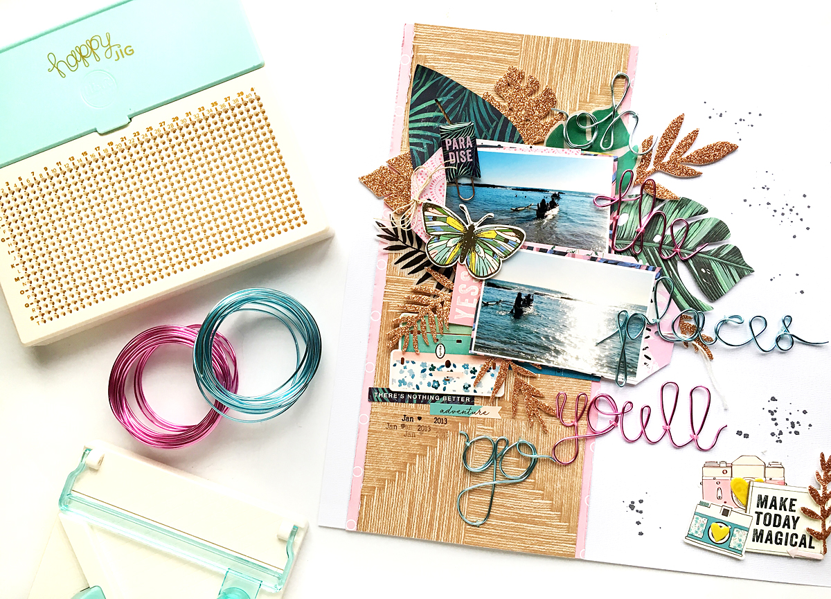 Travel Layout with the Happy Jig by Enza Gudor for We R Memory Keepers