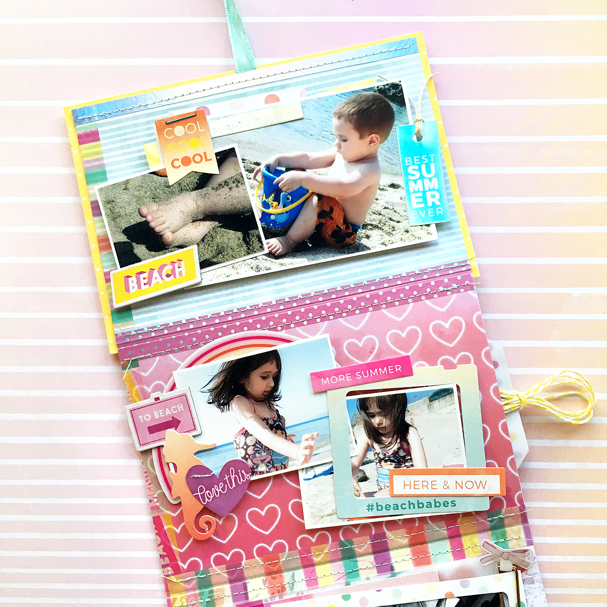 Washi Tape Mini Album by Enza Gudor for We R Memory Keepers